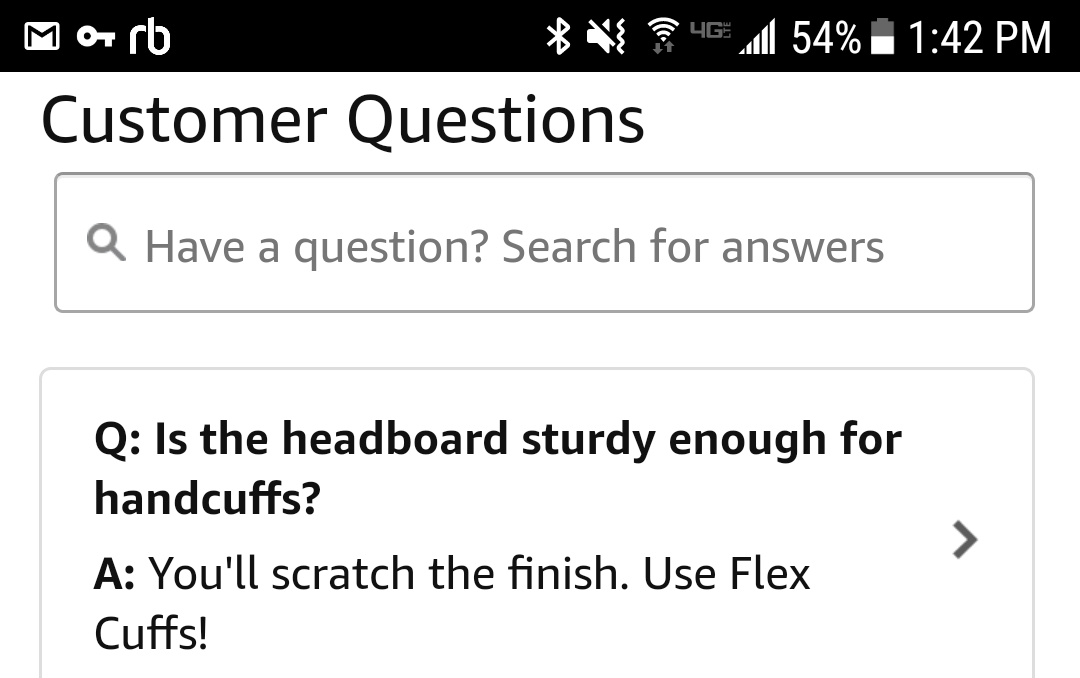 Asking the important questions about bed frames.