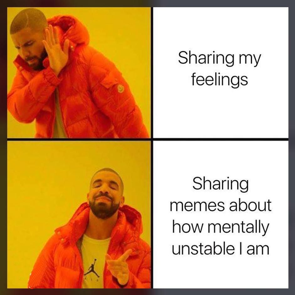 I mean, sharing your feelings doesn't give you Karma