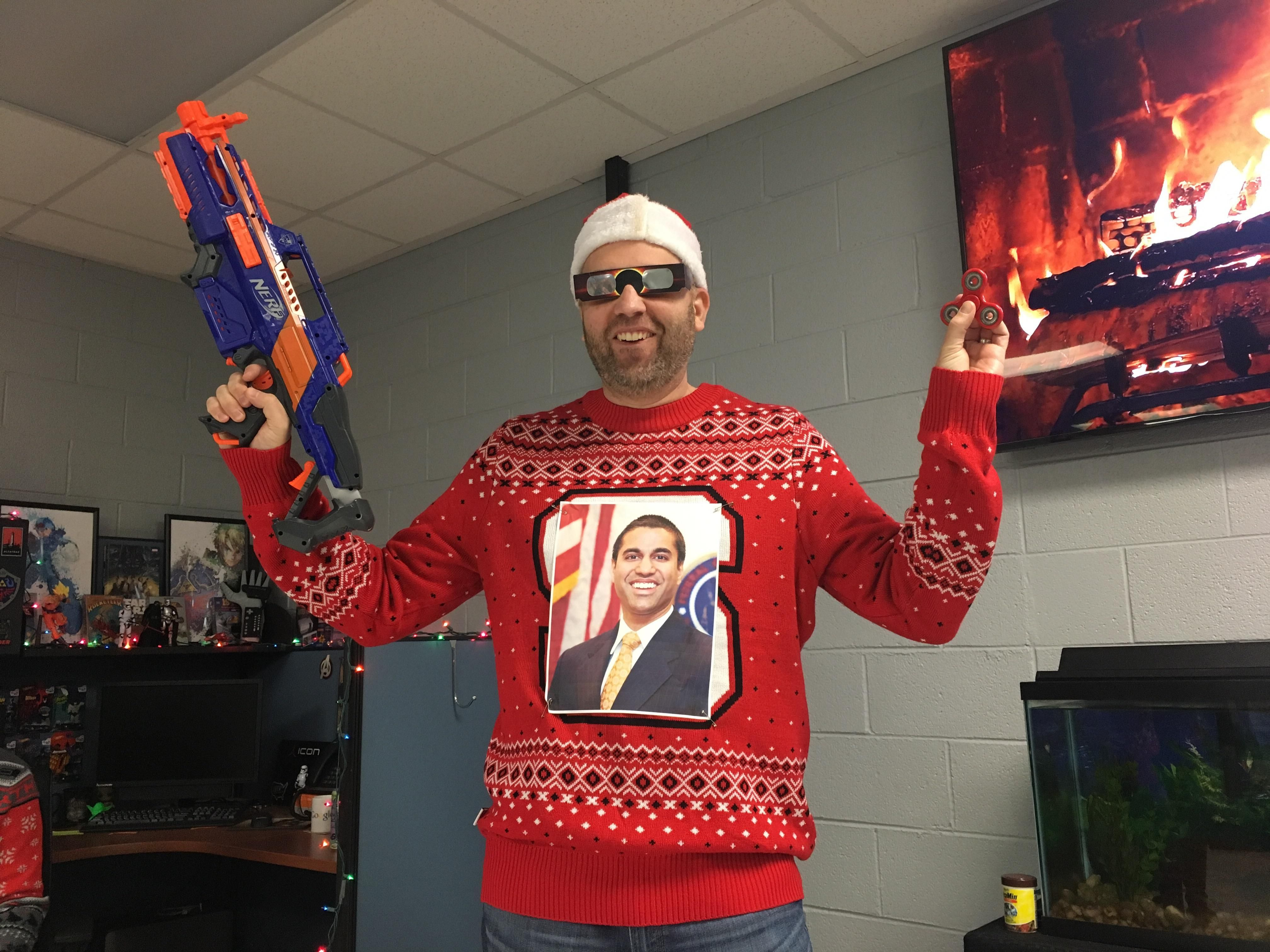 My boss wins ugly christmas sweater of the year