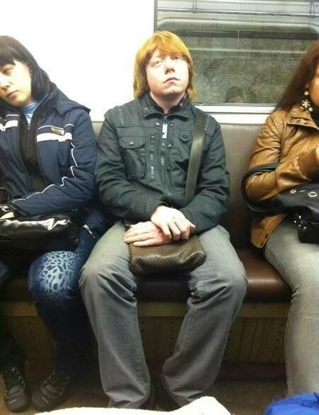 This guy in Moscow subway looks like Ron Weasley