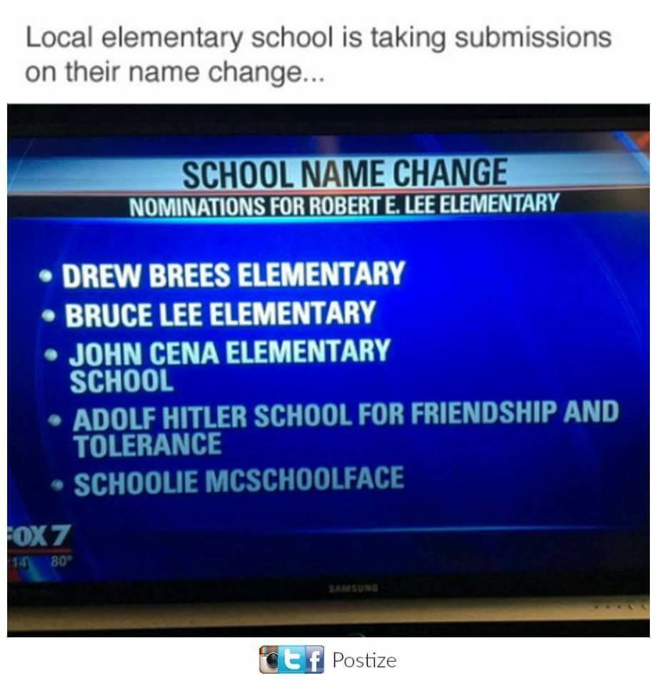 School is taking submissions on a name change.
