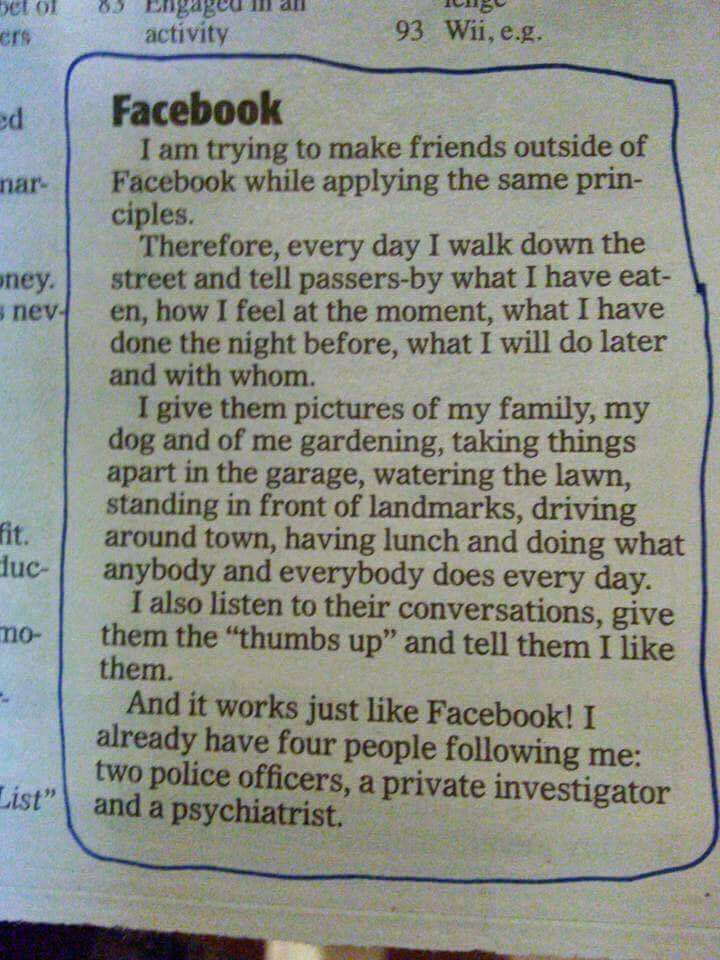 Facebook principles in real life