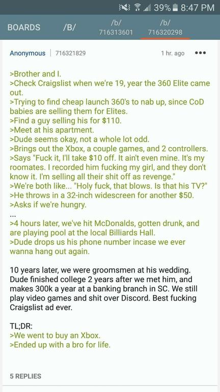 Anon get an X bocks