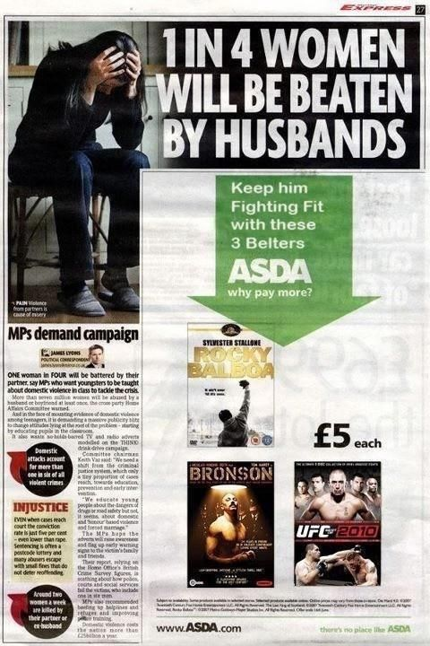 The worst place to put an advertisement in a newspaper?