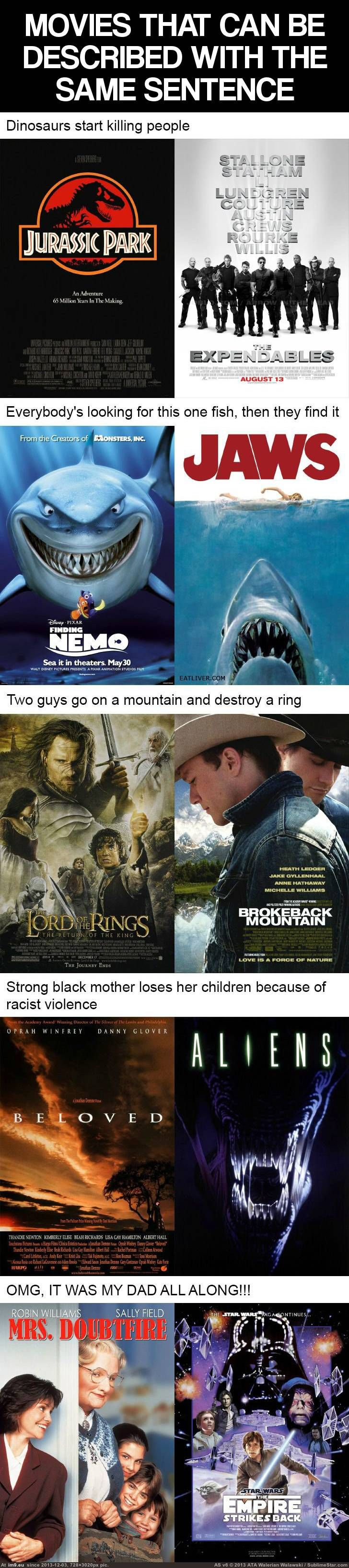 One Sentence, 2 movies.