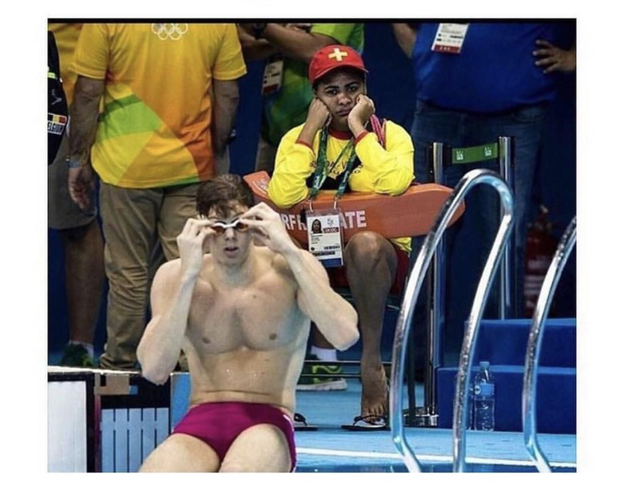 The worlds most useless job, A lifeguard at the Olympics