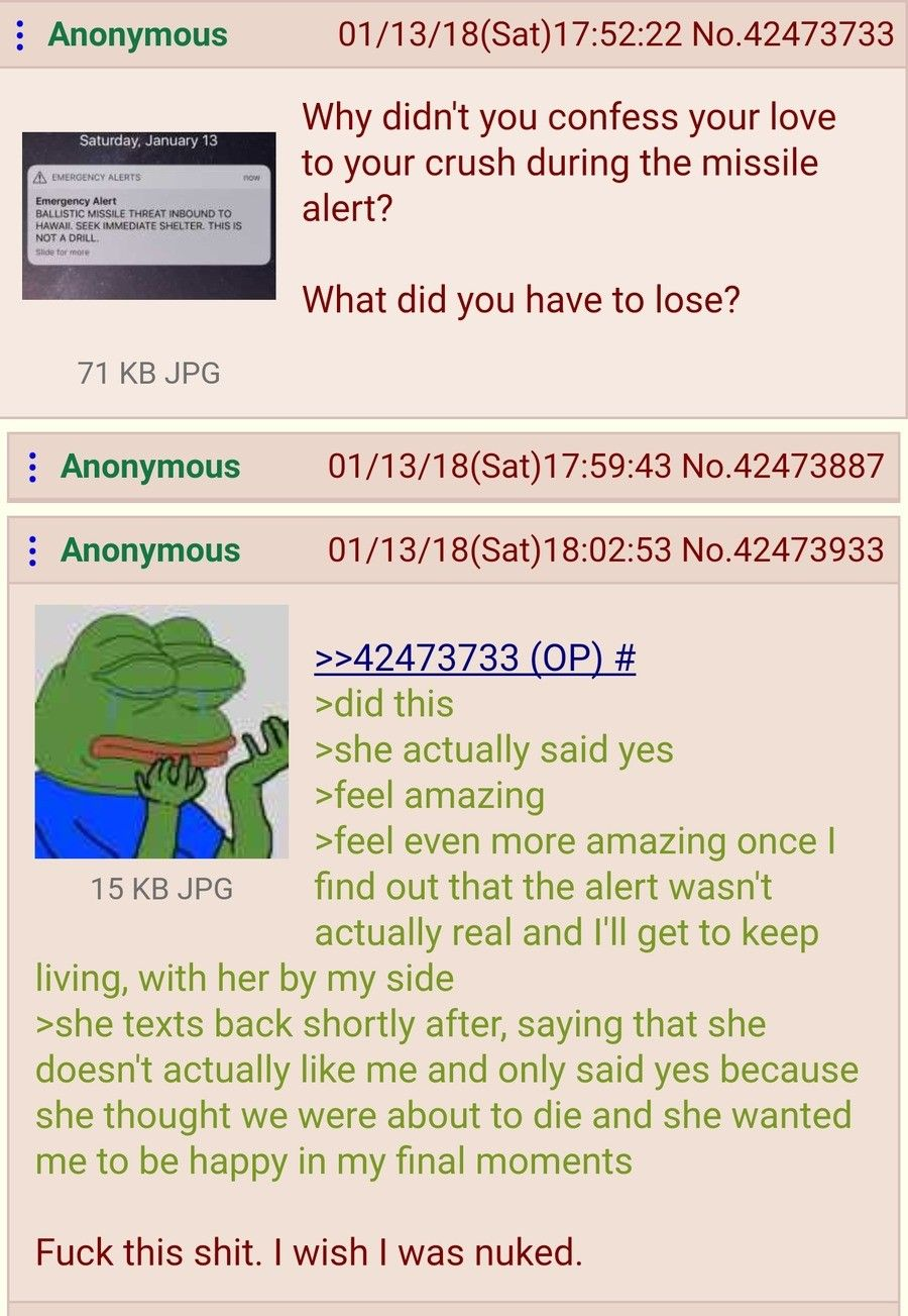 Anon confesses to his crush