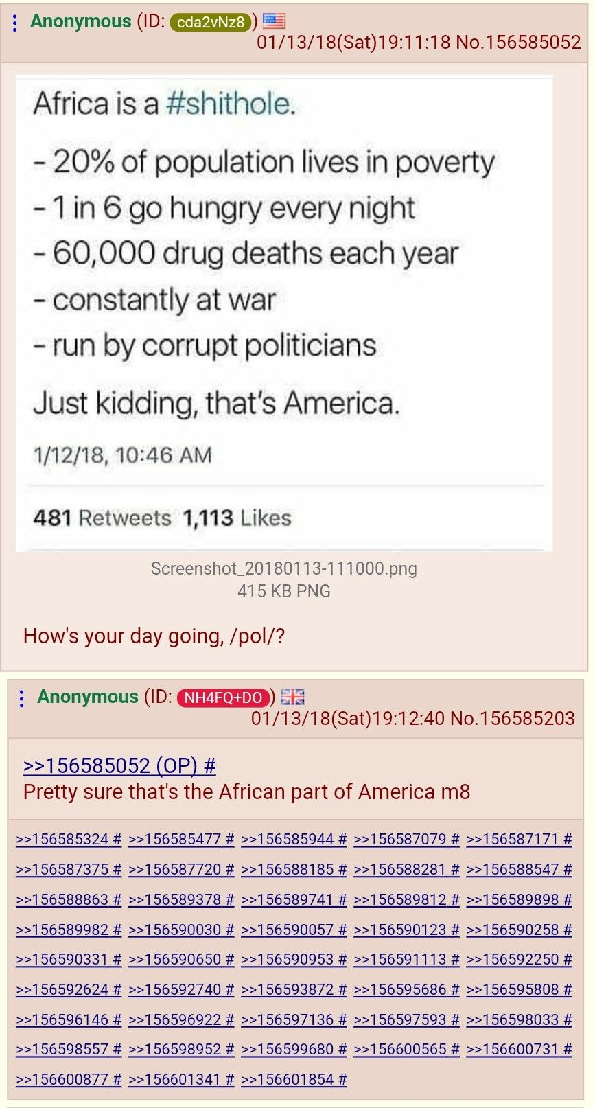 Shitholes explained to a shill on /pol/