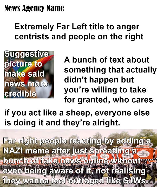 Being a sheep with an extra step is still being a sheep. Fake News memes should stay on HDL.