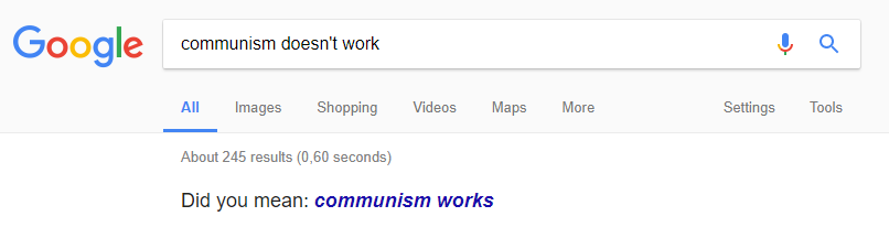 Google on communism