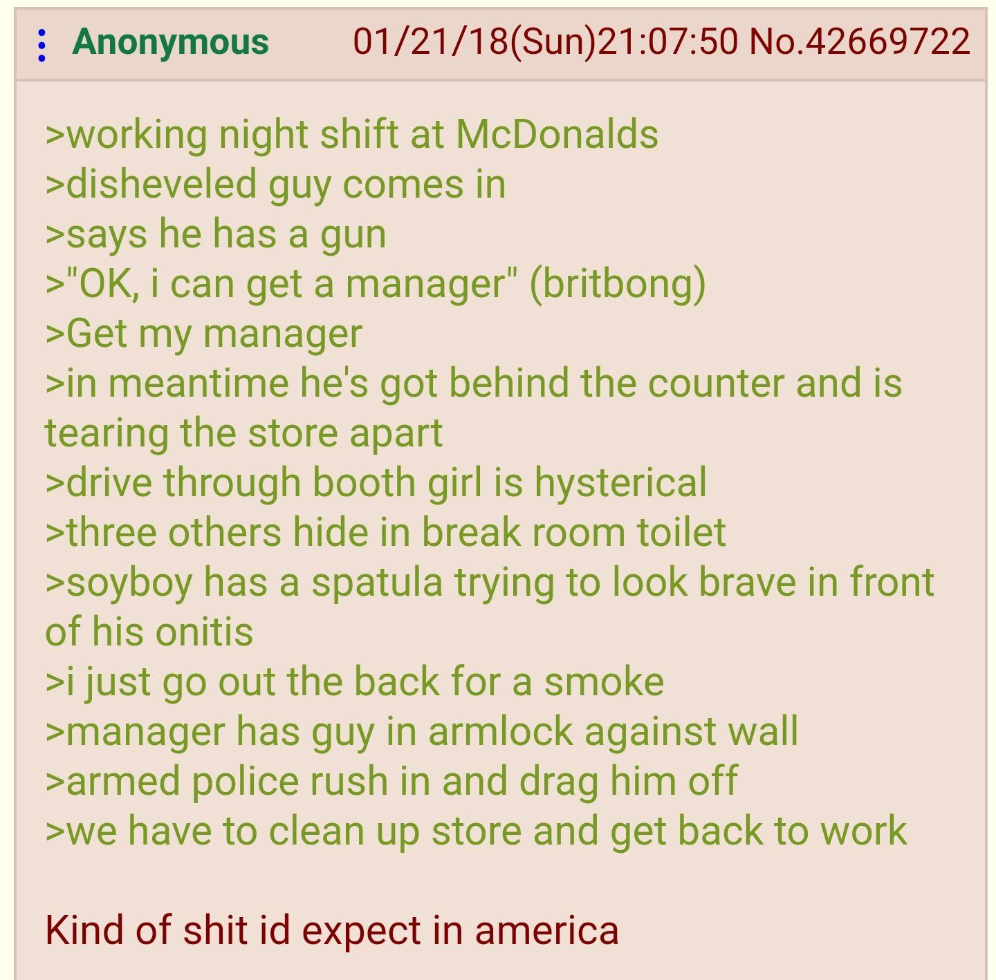 Anon works at Maccas