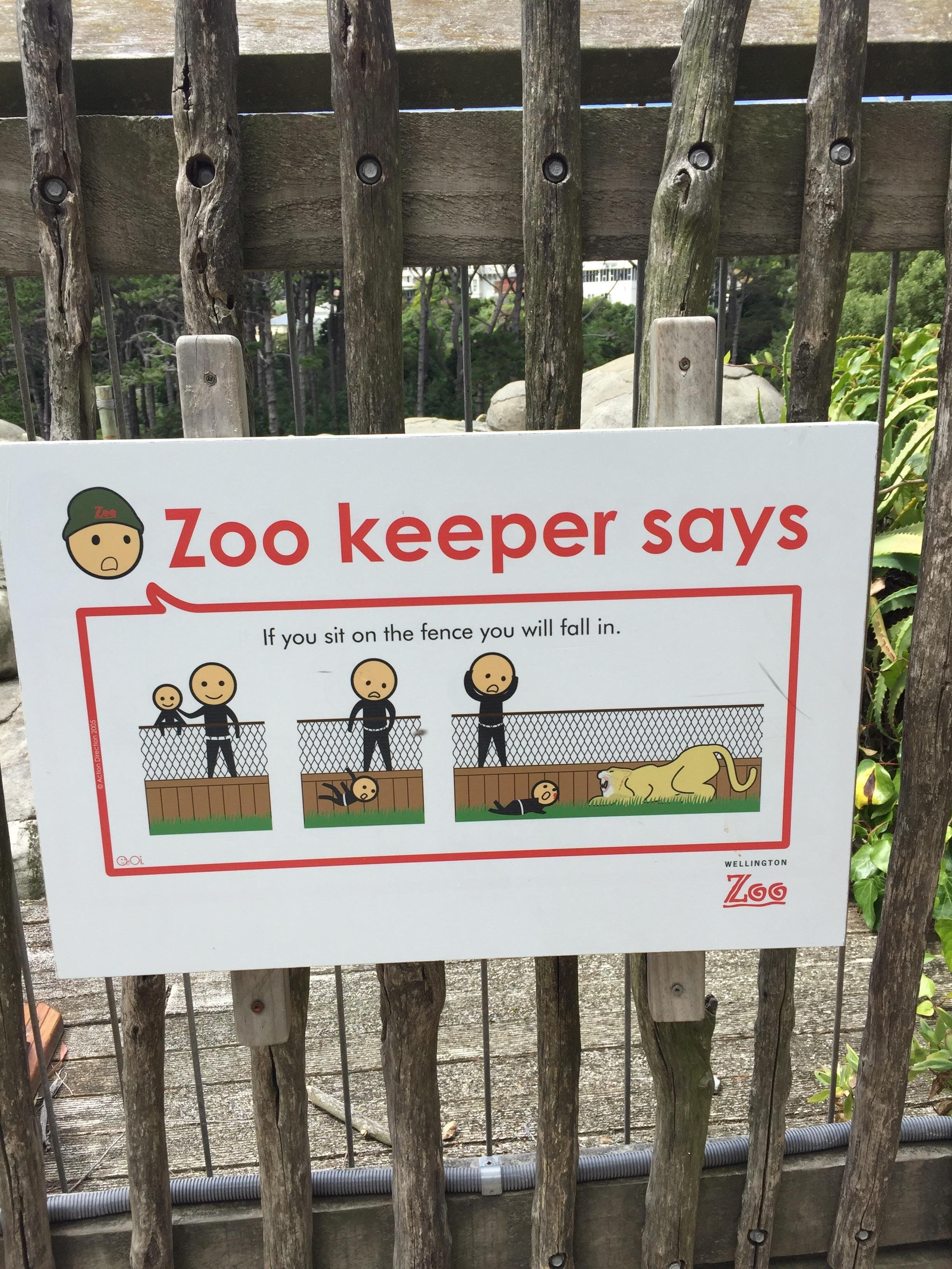 This sign at Wellington Zoo, NZ