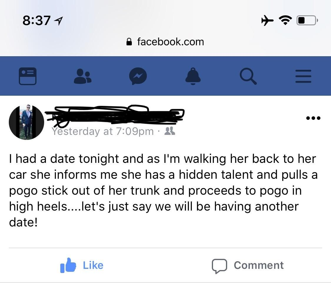 Dating: my date's hidden talent