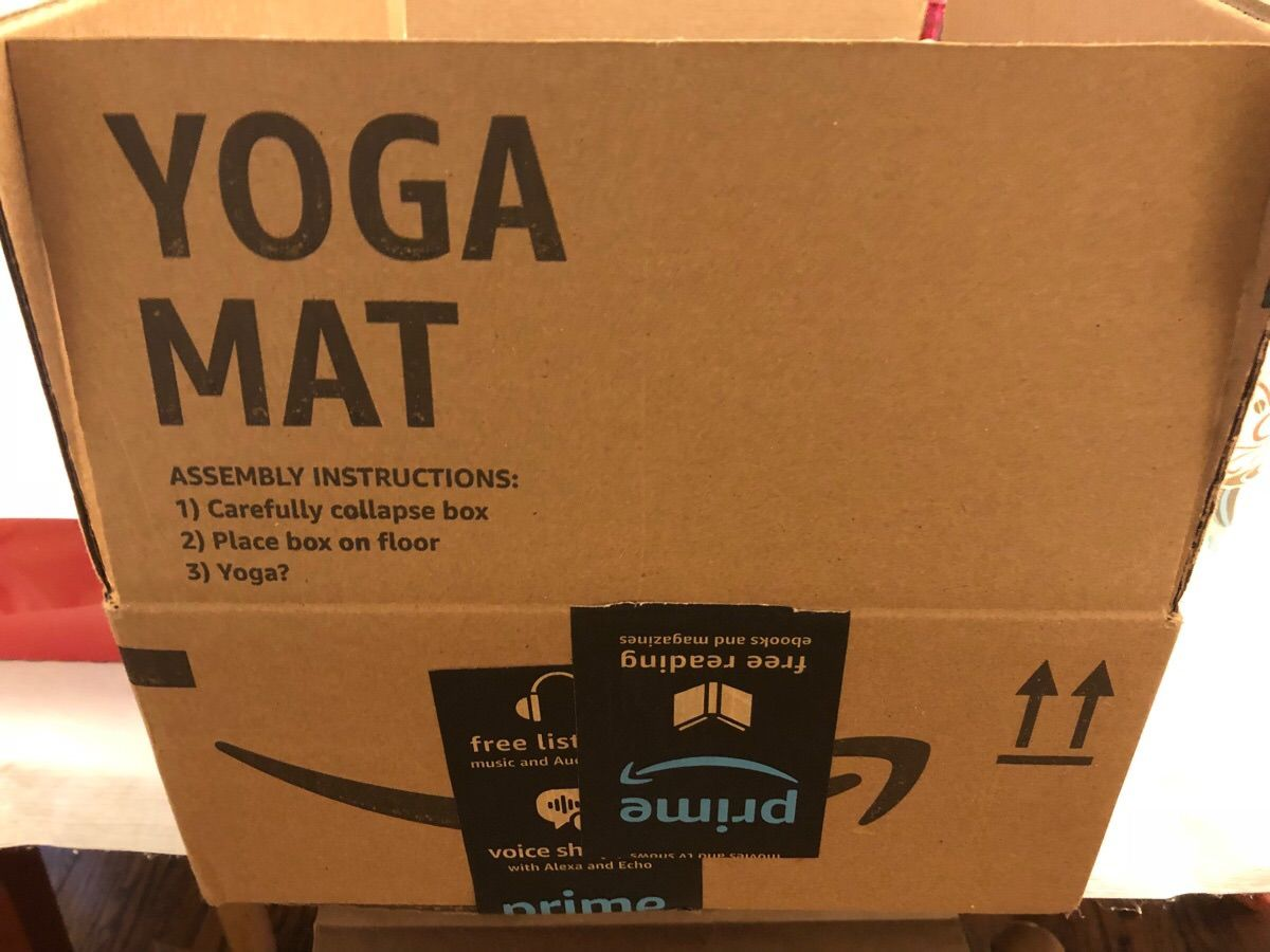Shipping box... or yoga mat?