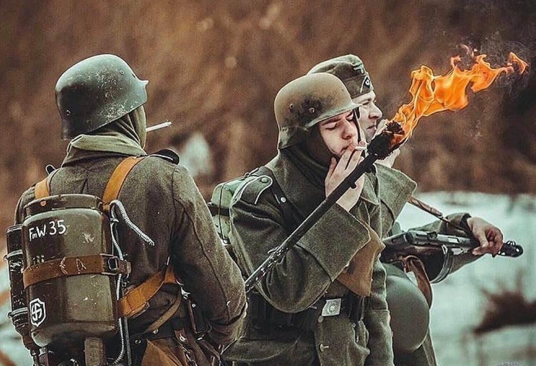 Imagine someone asks if you have a light and you whip out a flammenwerfer