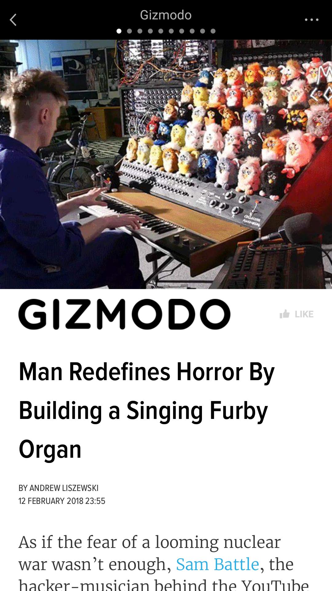 Man redefines horror