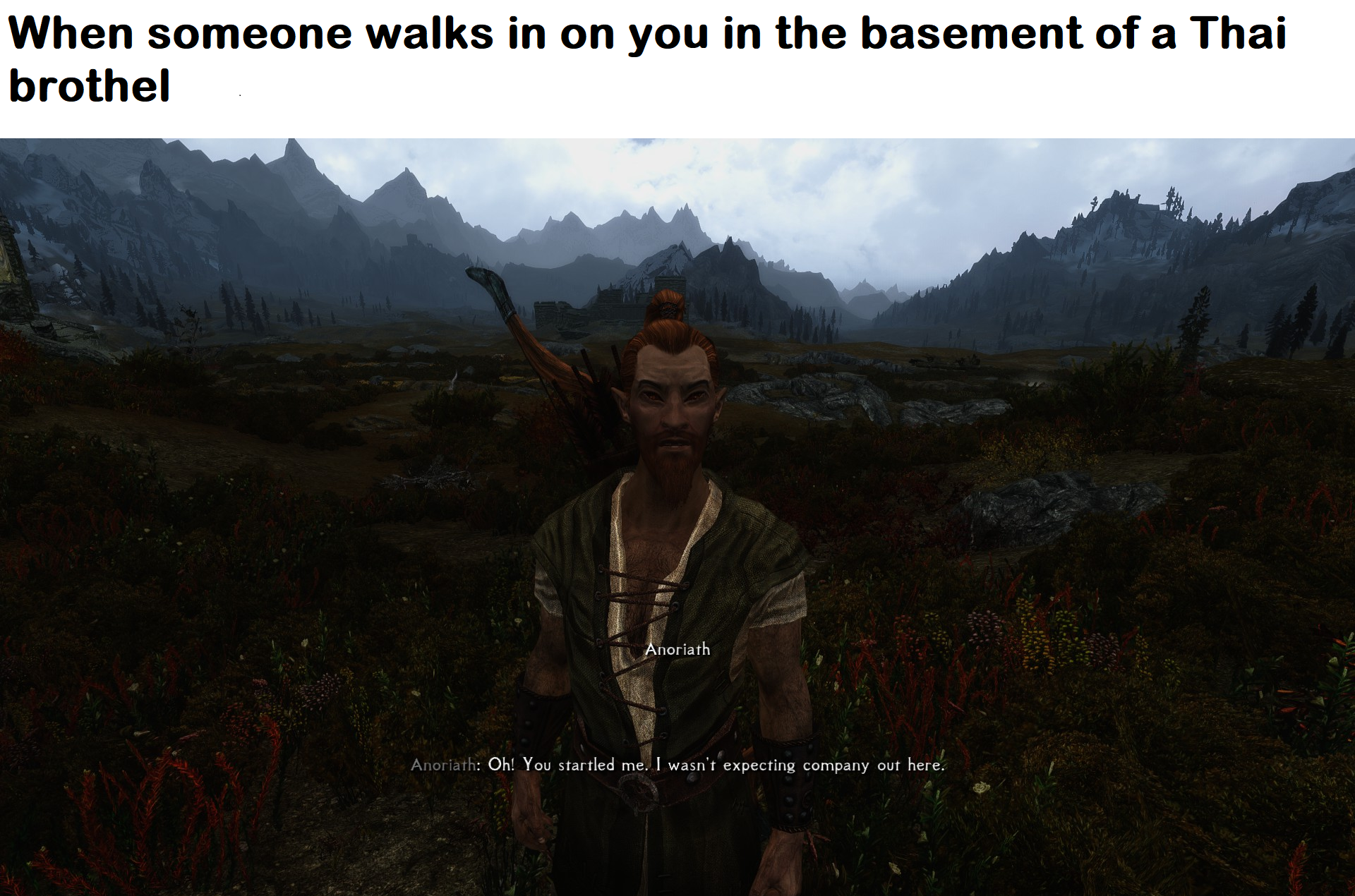 People always walk in at the worst times