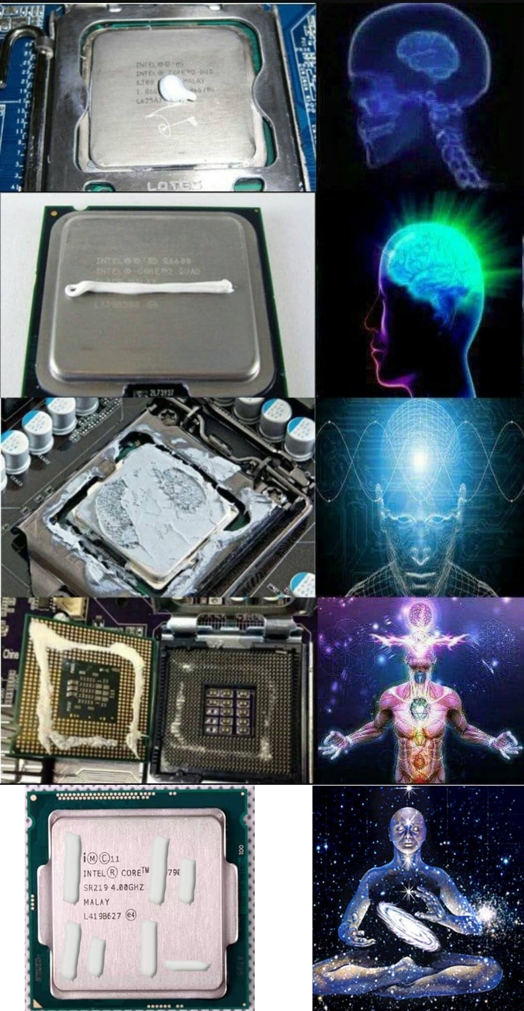 Overheated CPU will cause loss of performance