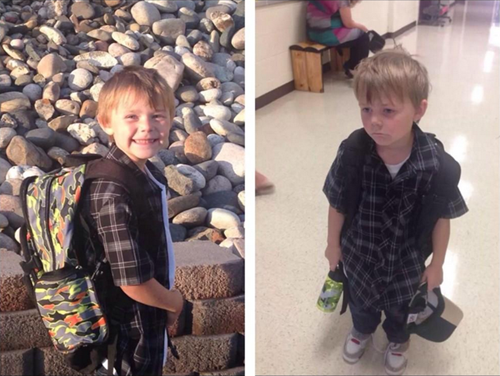 First Day of School: Before and After