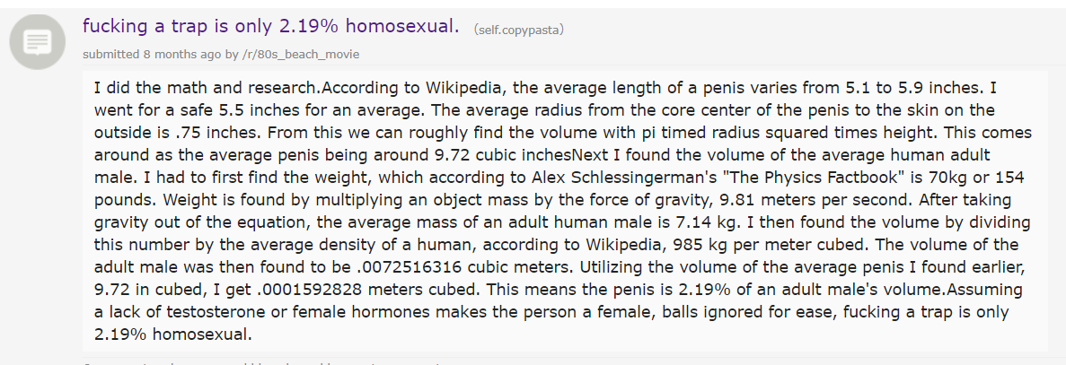 Only 2.19% homosexual to *** a trap.