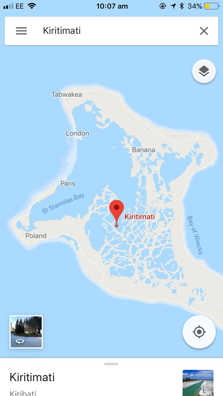 Maximum effort given when naming places on this island in Kiribati