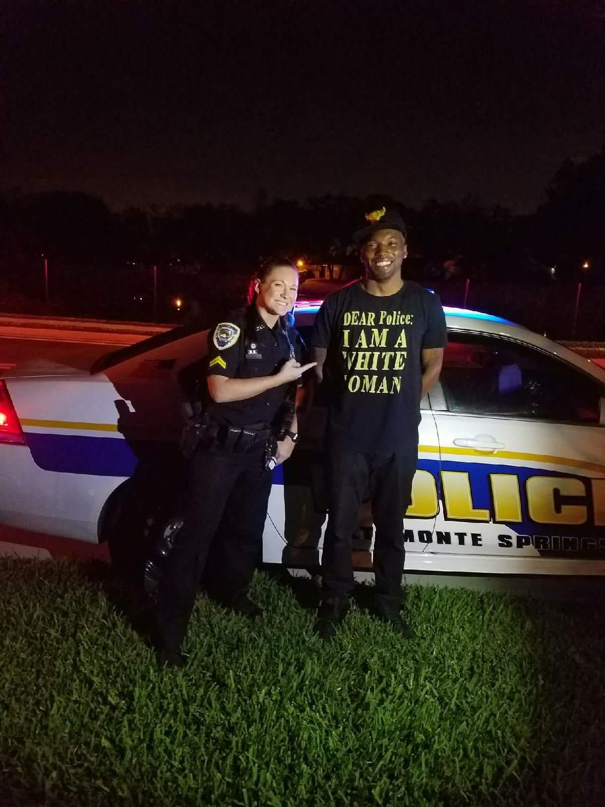 Just another friendly traffic stop
