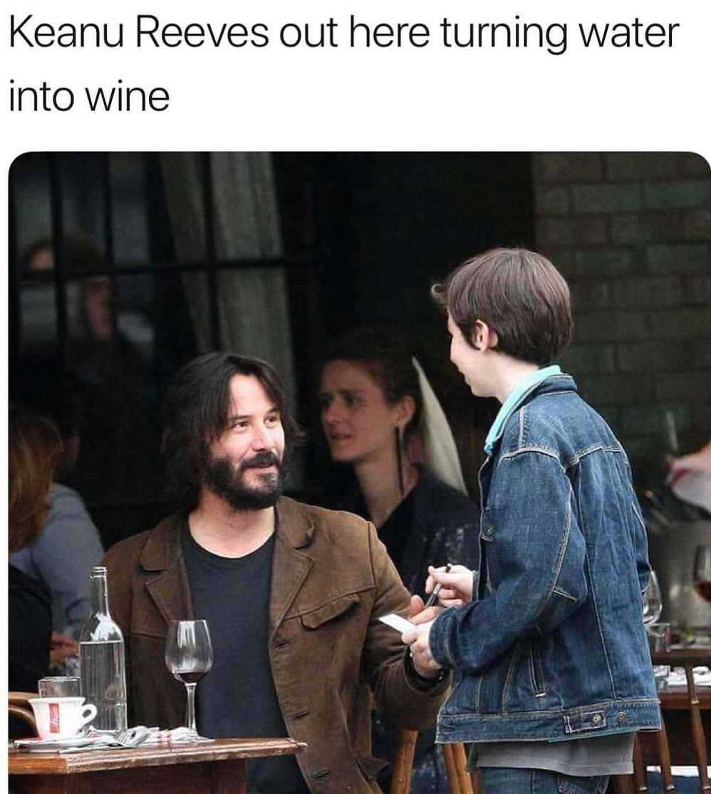 What can't Keanu do?!
