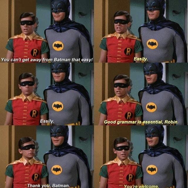 Always time for a lesson from batman