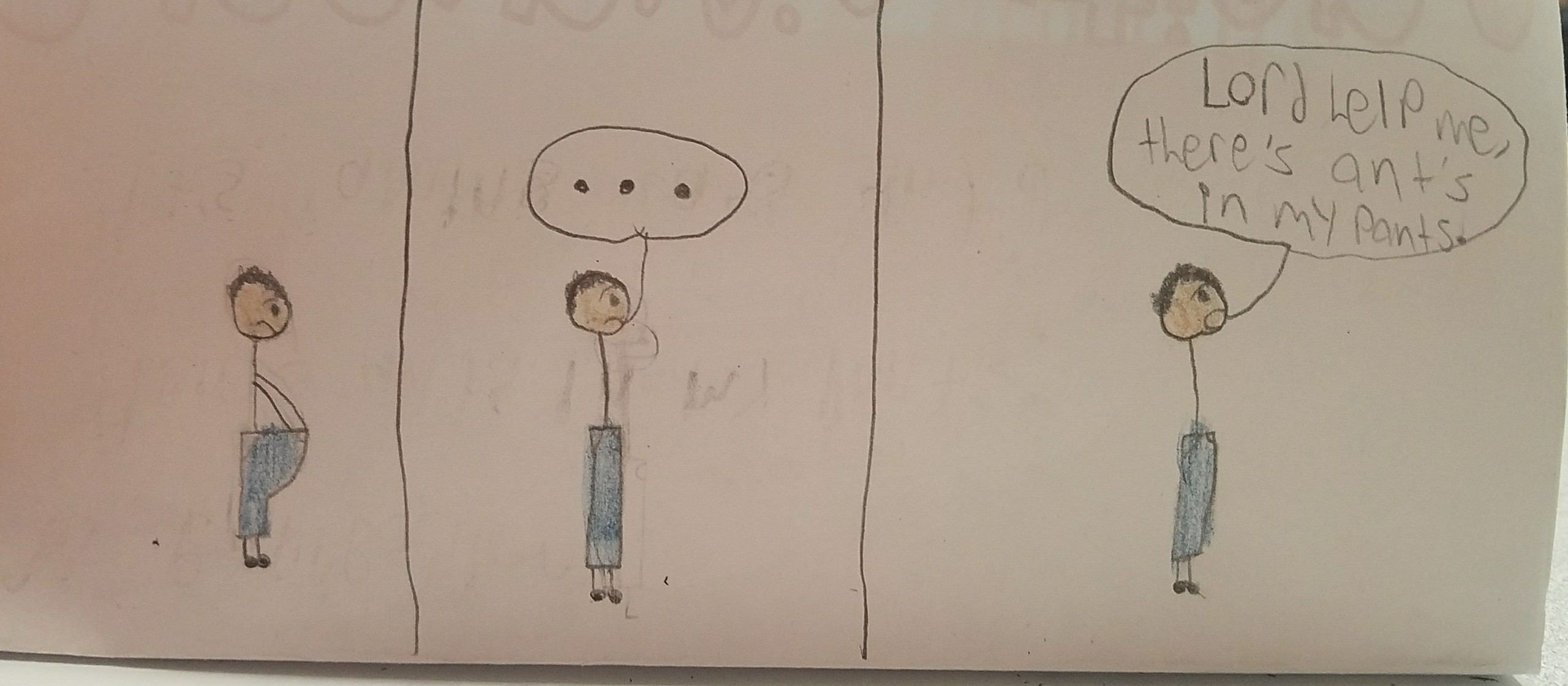 A 6th grader in my wife's class drew this comic - Lord help me