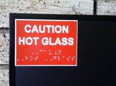 Why don't we put some braille on it to let blind people know not to touch it?