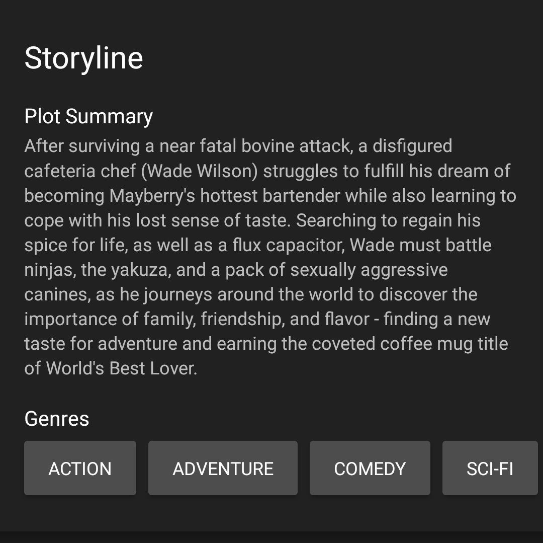 This is the plot synopsis for Deadpool 2 on IMDB