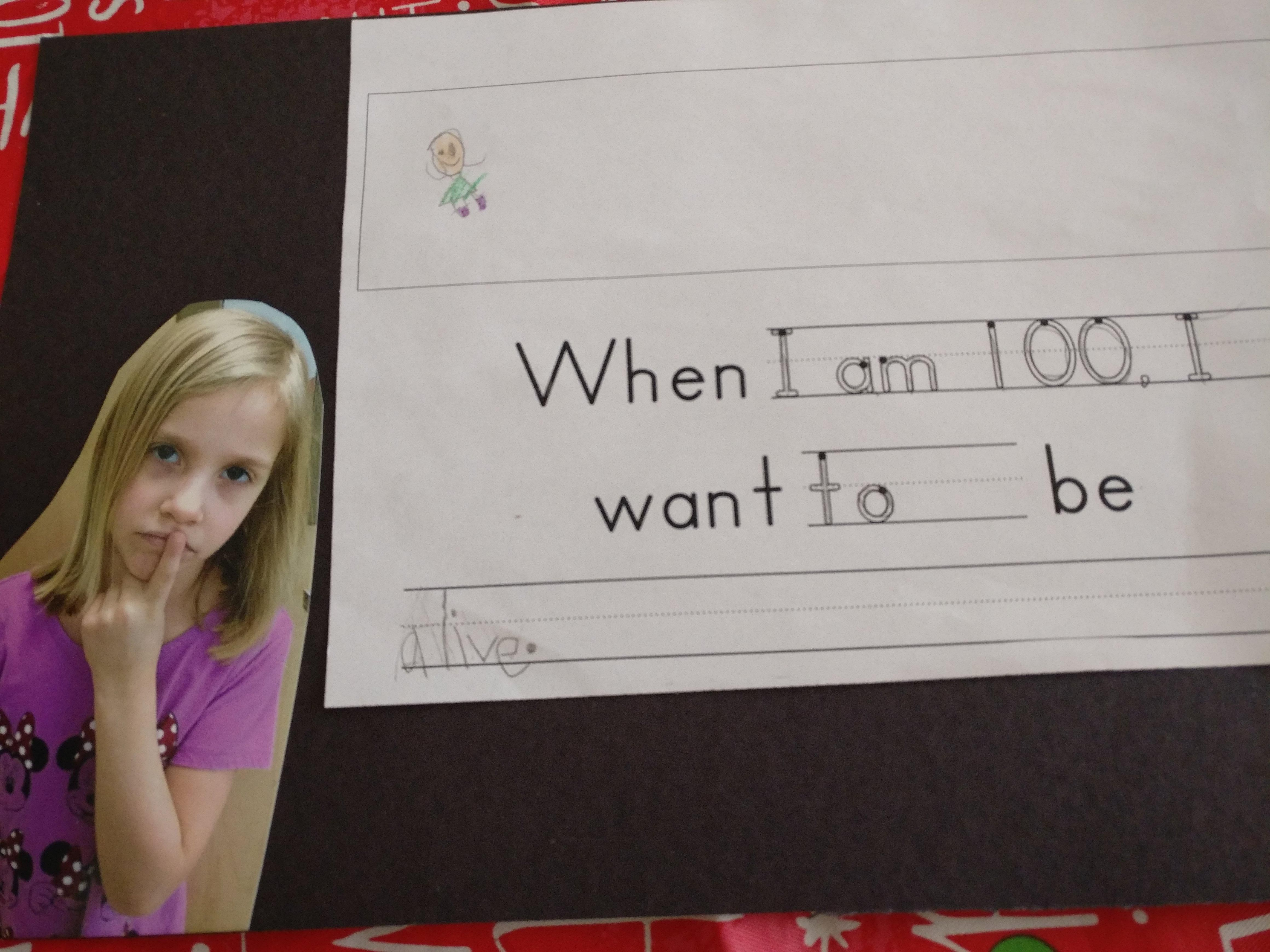 When I am 100, I want to be...