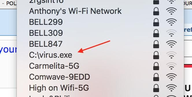 That's one way to keep freeloaders away from your wifi