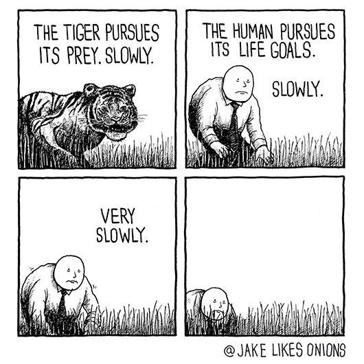 Slowly.