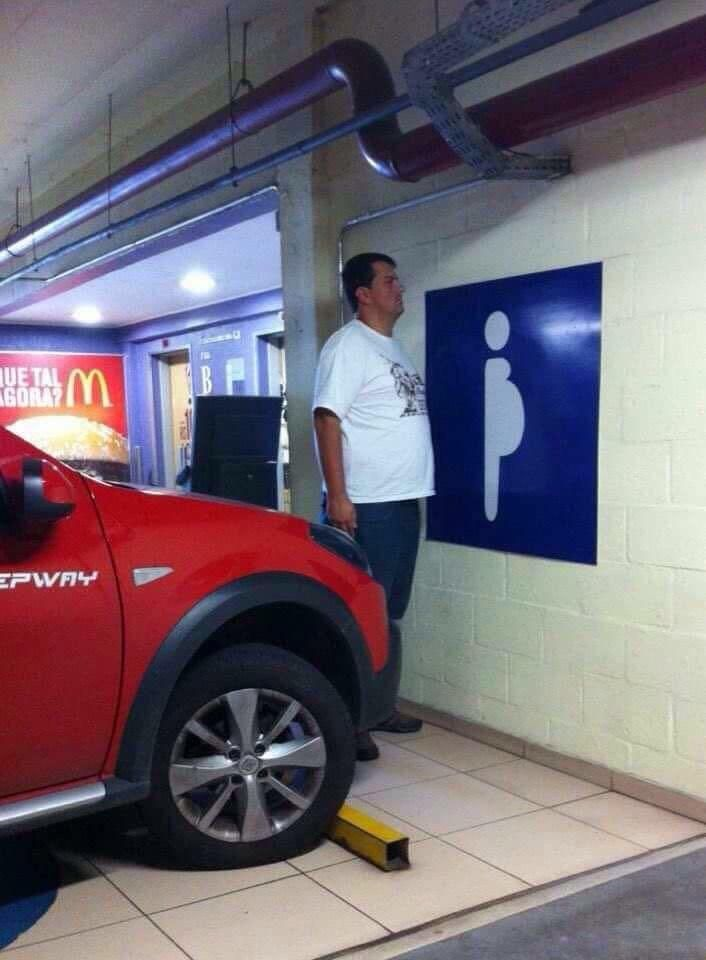 About time us big gut beer drinkers got preferential parking. Boom!!