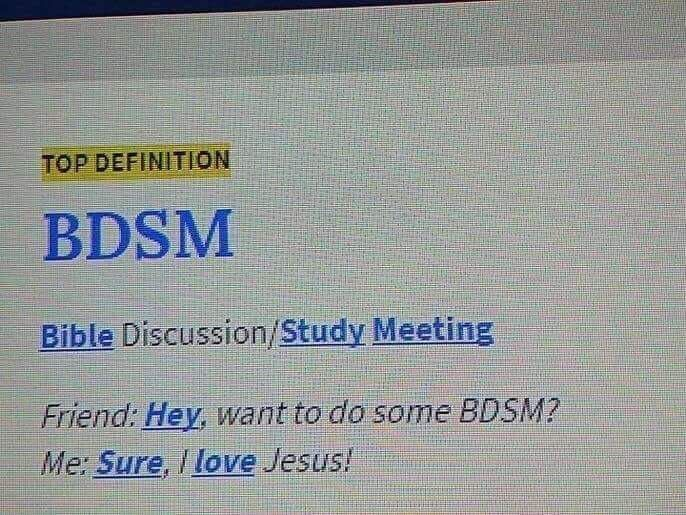 I'm looking forward to that BDSM