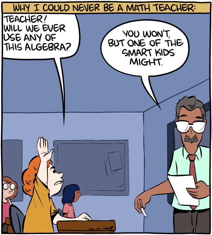 Why I Can't Be a Math Teacher