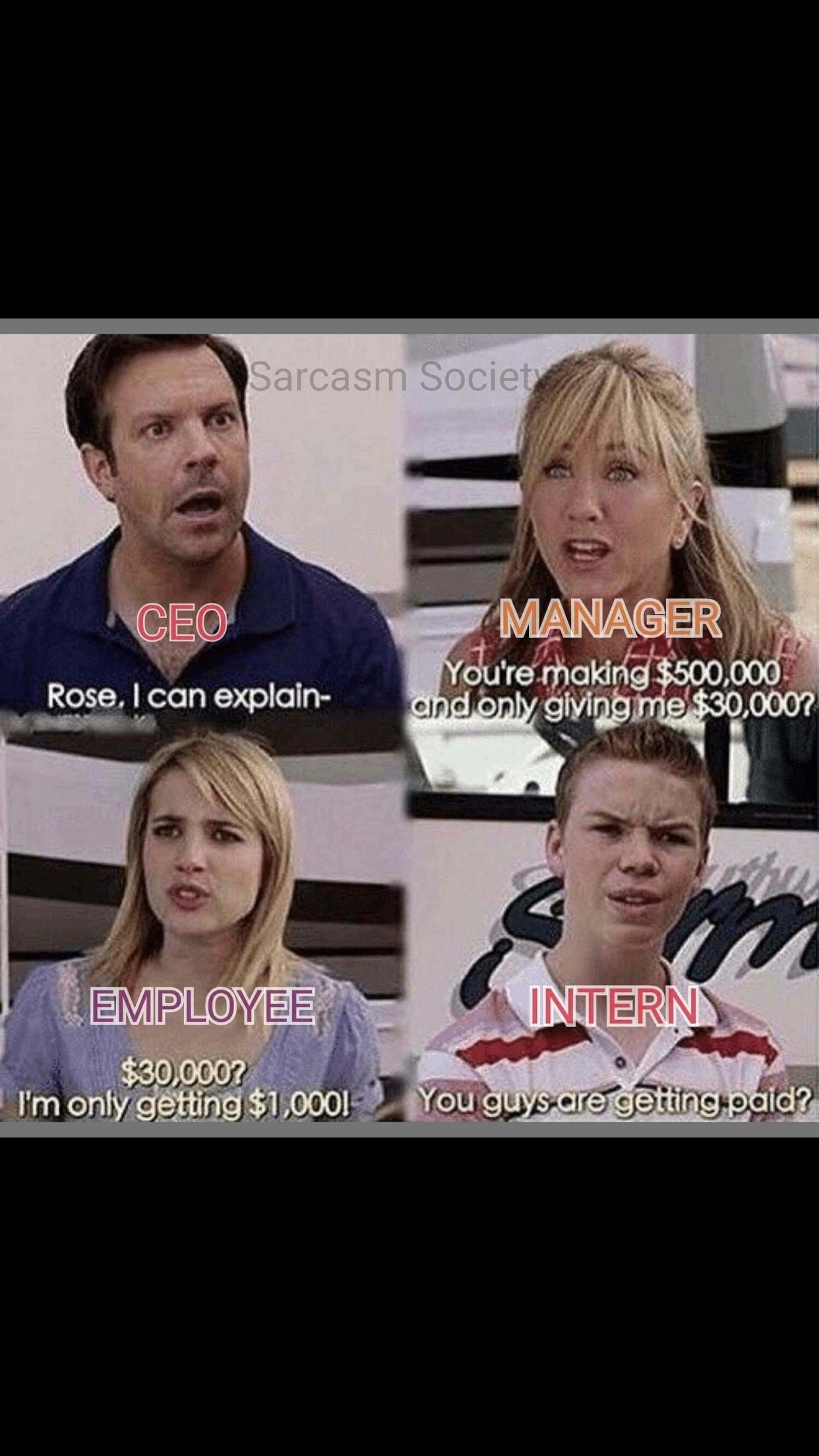The intern struggle...