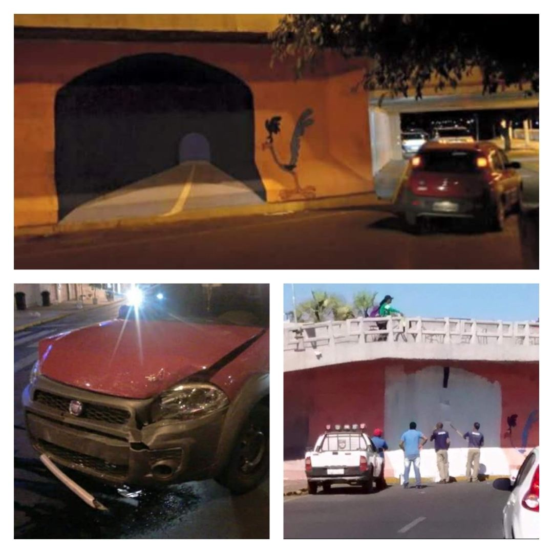 It's sad how Wile E. Coyote is remembered for his violence, and not for his brilliantly realistic paintings of tunnels.