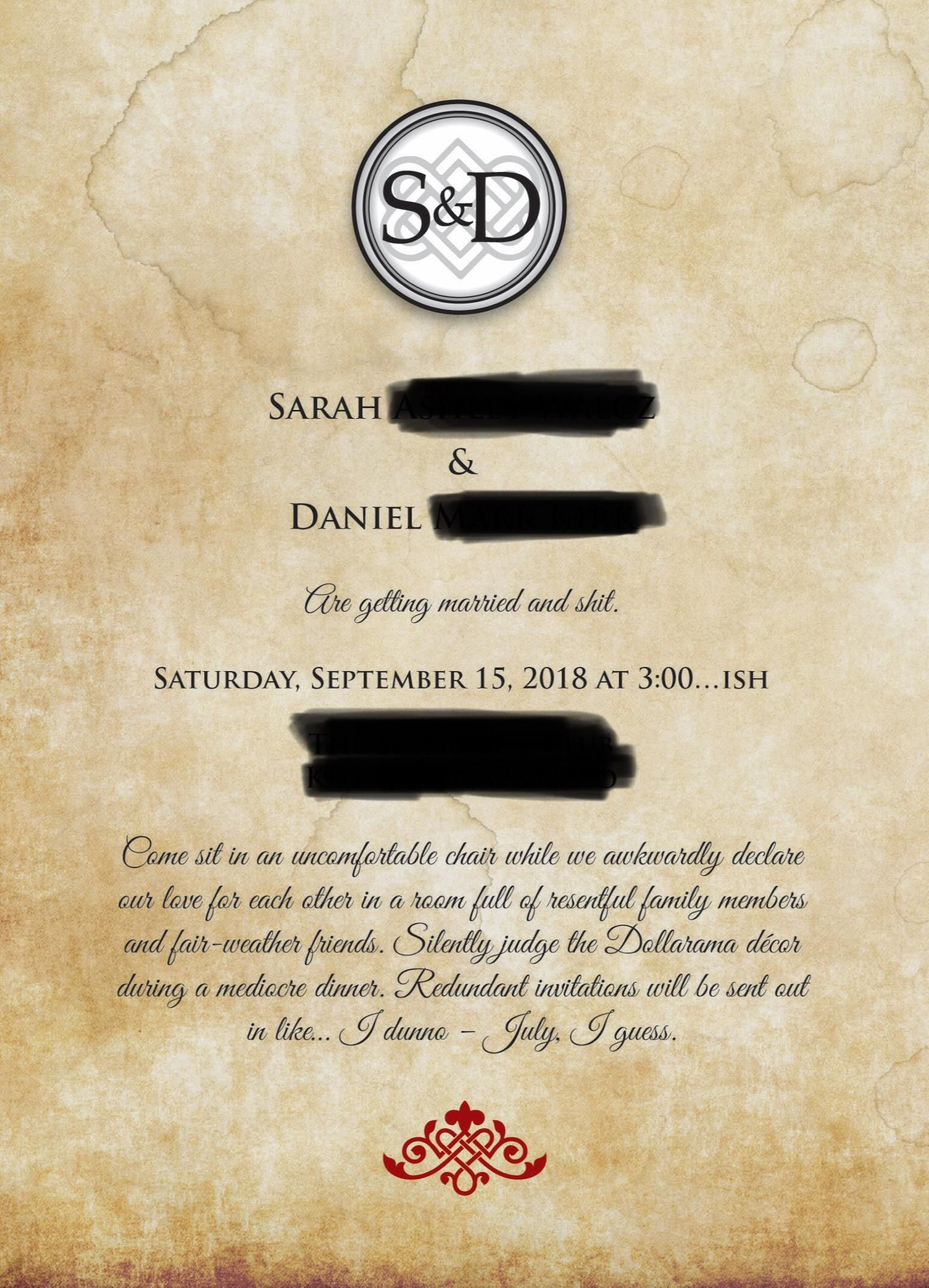 Best wedding Save the Date ever