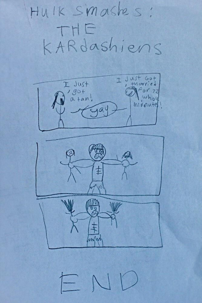 I don't know who's kid drew this, but they're my new hero