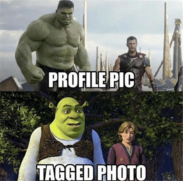 Profile Pics vs. Tagged Photos