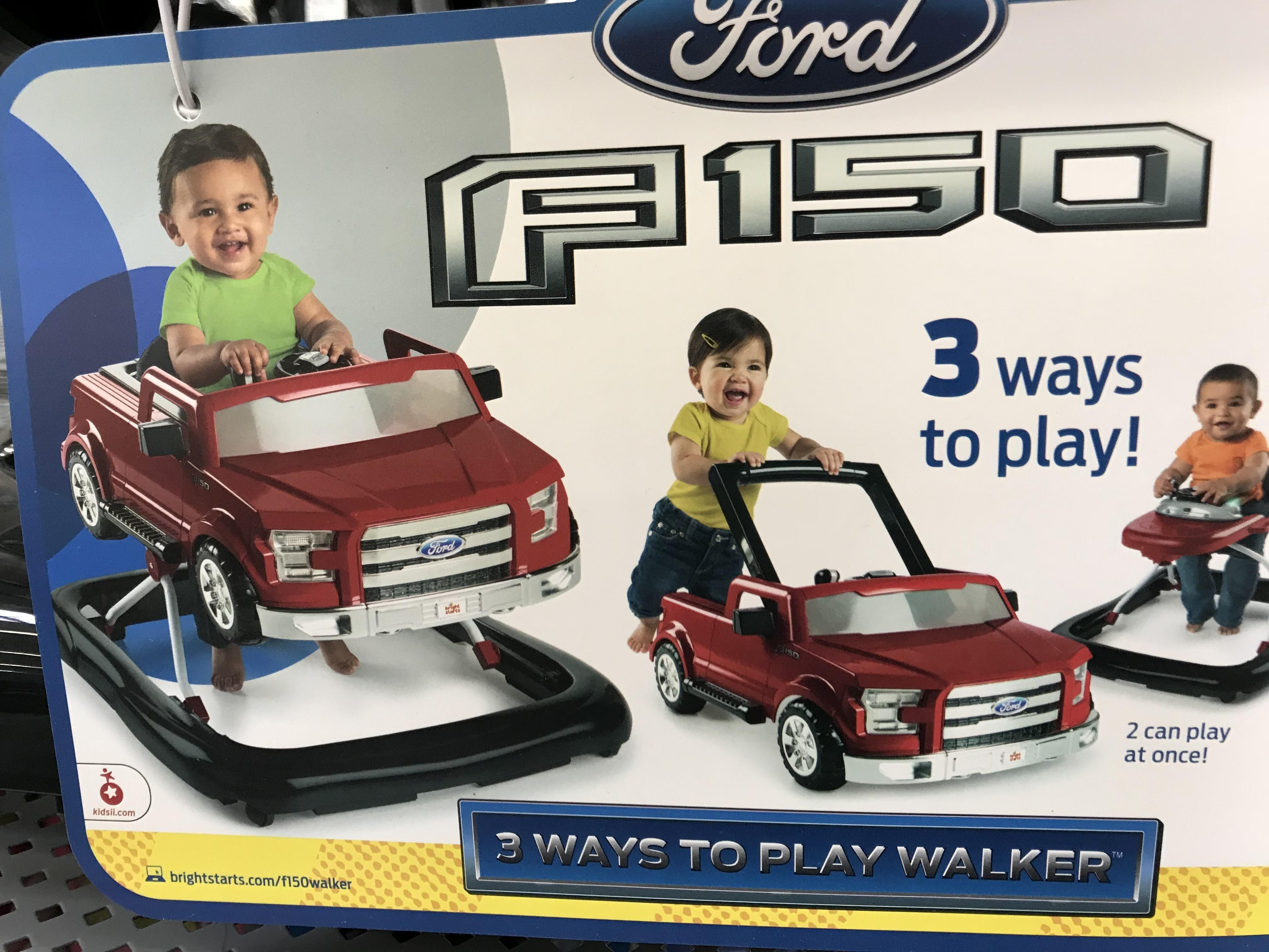 Teaching kids to push their Ford trucks early!