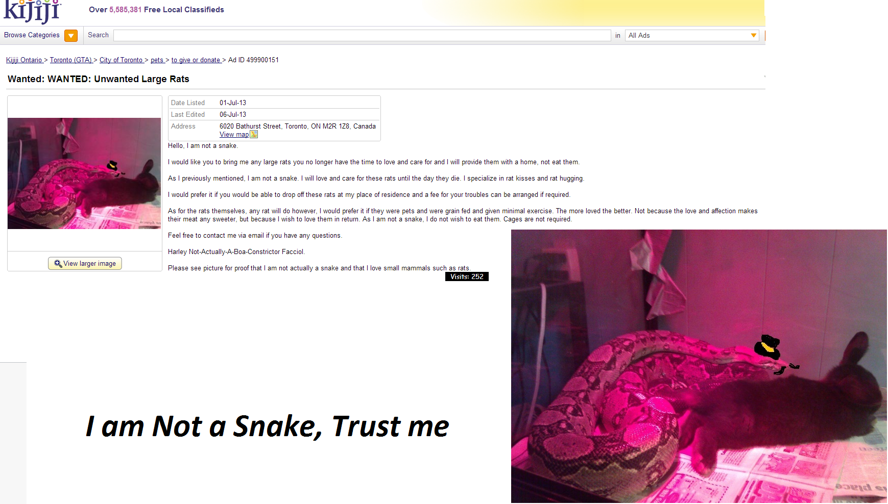 I am not a snek