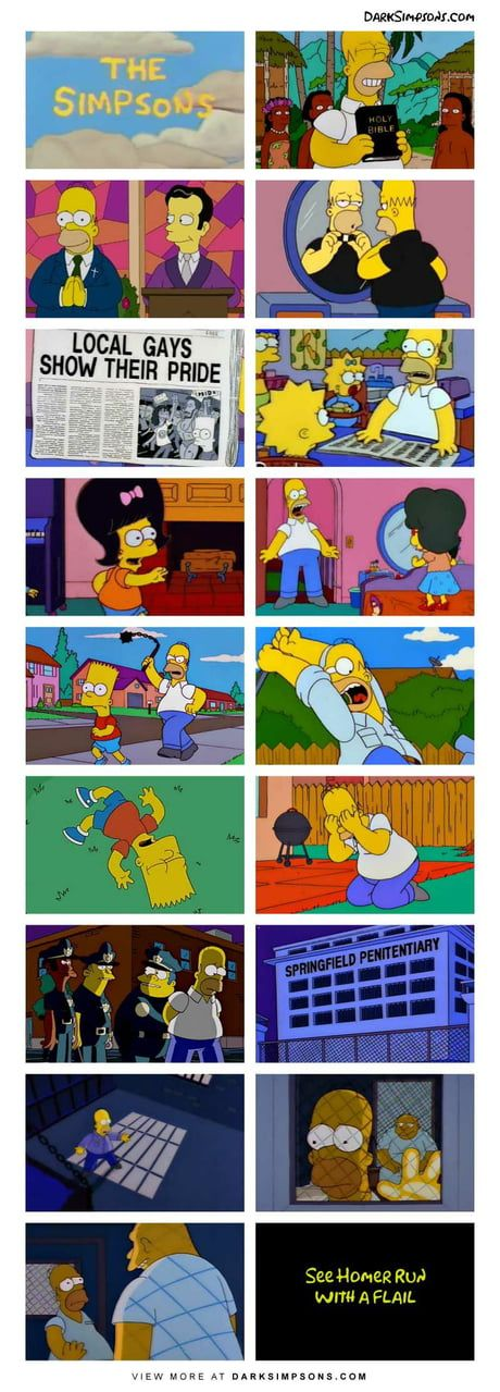 Homer tried, homer died, homer went to hell