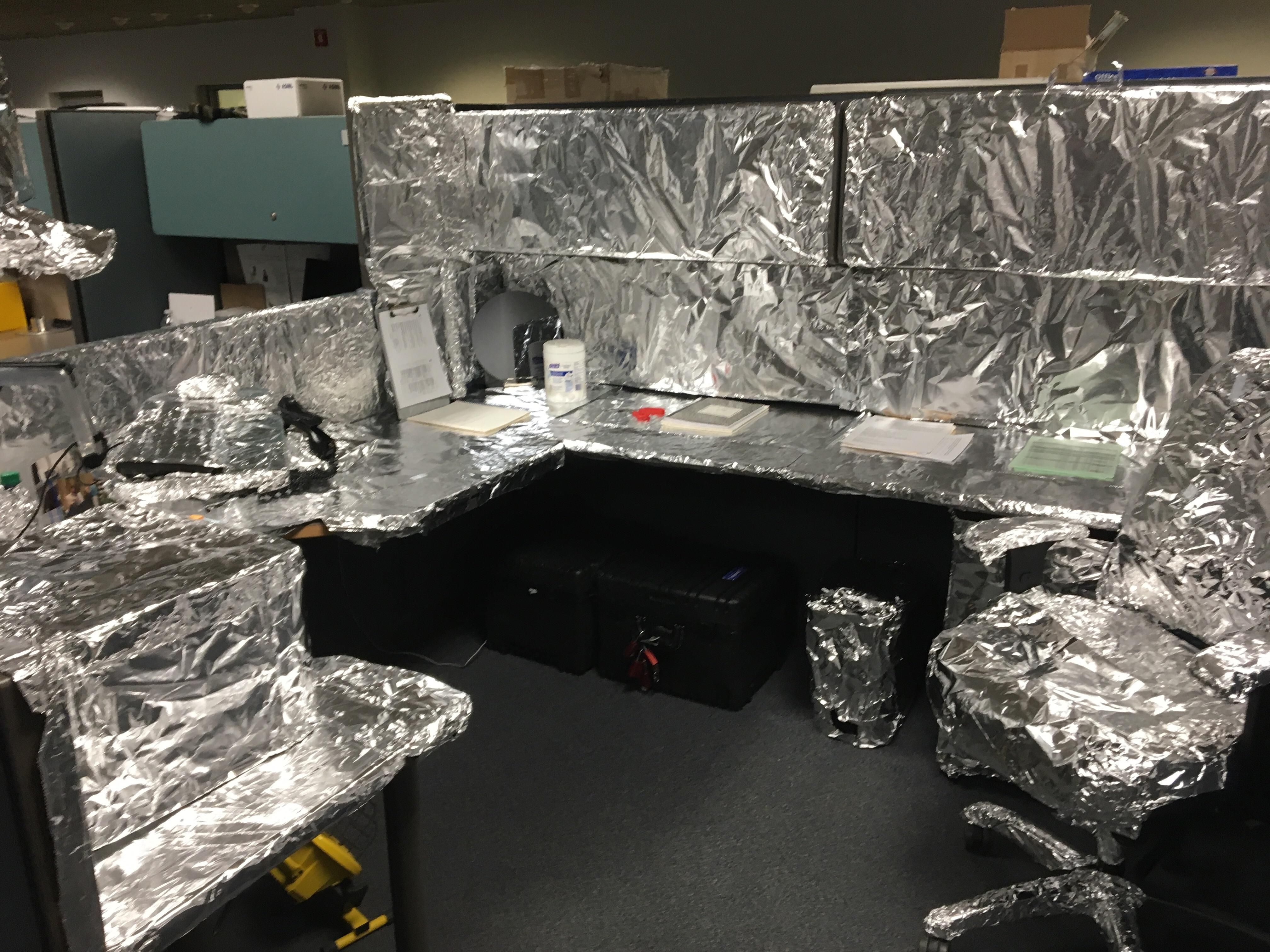 A coworker left after 23 years where I work, this was his ...