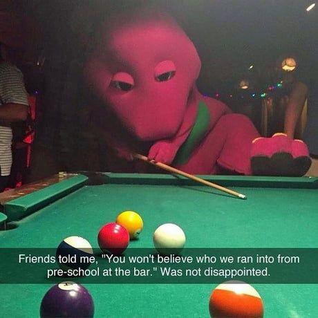 Barney going through a tough time