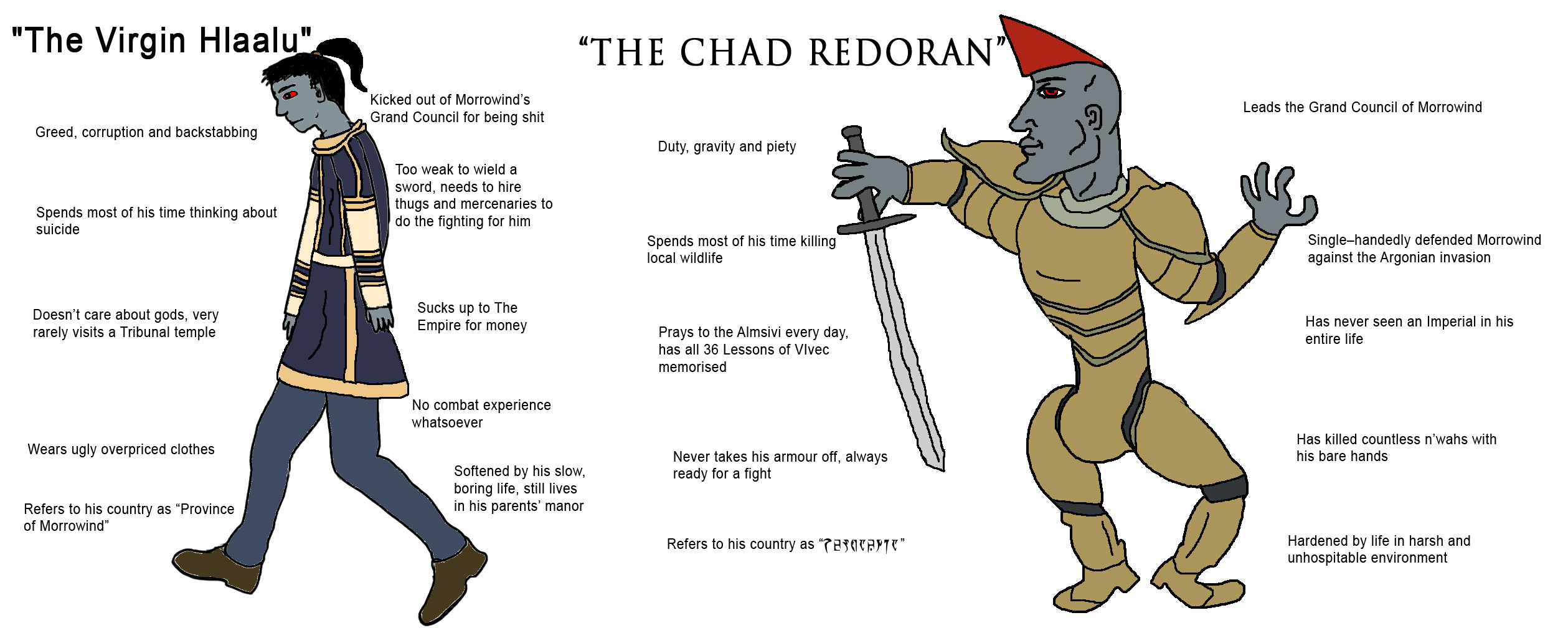 Technically not a TES III: Morrowind meme, but still a meme about Morrowind