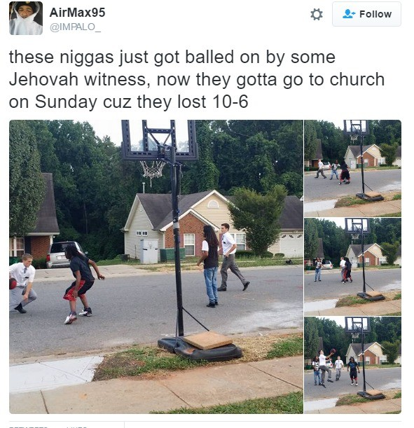 """God let me dunk of these hood rats so I may show them your light"""
