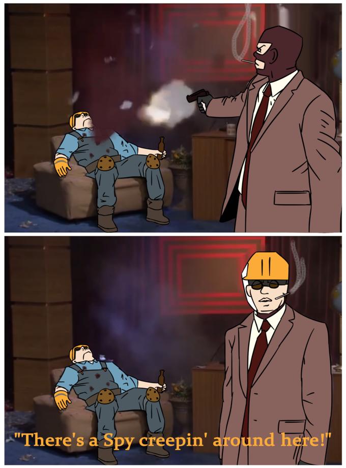 Spy sappin' ma Engineer